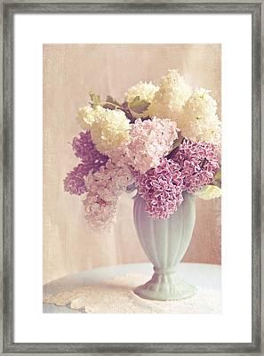 Anticipations- Lilac Shabby Chic Still Life Framed Print