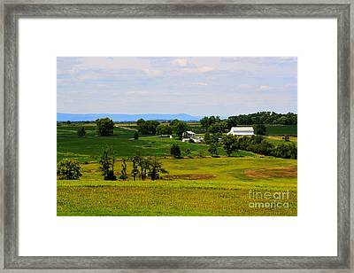 Antietam Battlefield And Mumma Farm Framed Print by Patti Whitten