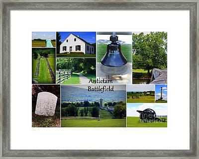 Antietam Collage Framed Print by Patti Whitten