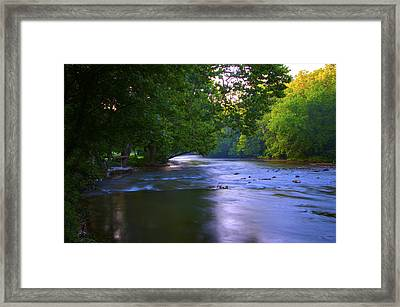 Antietam Creek - Hagerstown Maryland Framed Print by Bill Cannon
