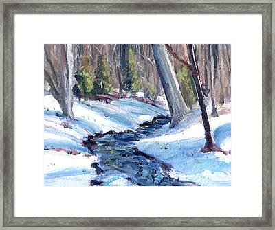 Antietam Creek Runoff Framed Print by David Zimmerman