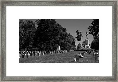 Antietam National Cemetery Framed Print