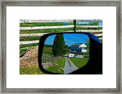 Framed Print featuring the photograph Antietam Reflections by Andy Lawless