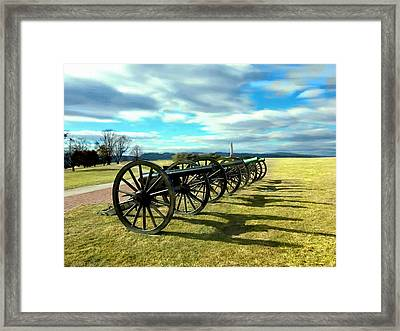 Antietem Battlefield Painting Forsale Framed Print by Bob and Nadine Johnston