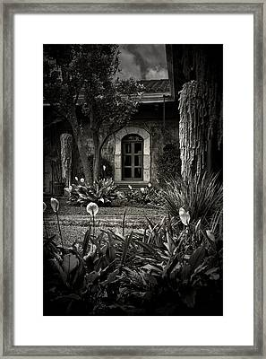 Antigua Garden Framed Print by Tom Bell