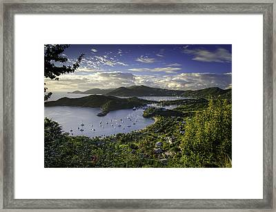 Antigua Sunset From Shirley Heights Framed Print