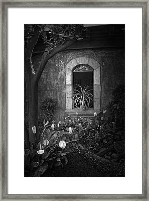 Antigua Window Framed Print by Tom Bell