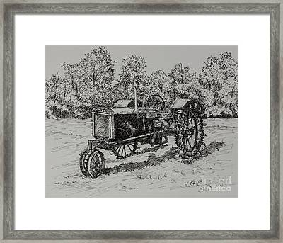 Antigue Tractor Framed Print