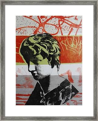 Antinous V Framed Print by Carmine Santaniello