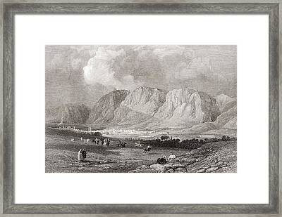 Antioch In Syria, From The South West, From A 19th Century Engraving.  From The Imperial Bible Framed Print by Bridgeman Images