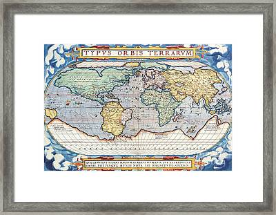 Antiquated World Map Framed Print by Pg Reproductions