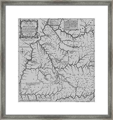Antique 1784 Kentucky Map Framed Print