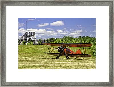 Antique 1931 Waco Ubf-2 Biplane    Framed Print
