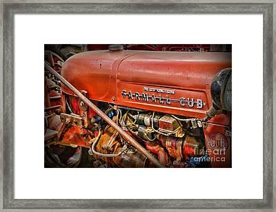 Antique 1939 Farmall Cub Tractor Framed Print by Paul Ward