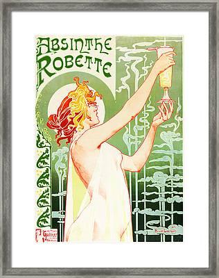 Antique Absinthe Robette Ad 3 Framed Print by Jennifer Rondinelli Reilly - Fine Art Photography