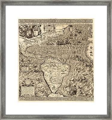 Antique America Map Framed Print by Gary Grayson