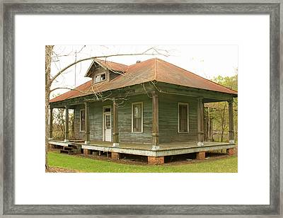 Antique And Abandoned House Framed Print