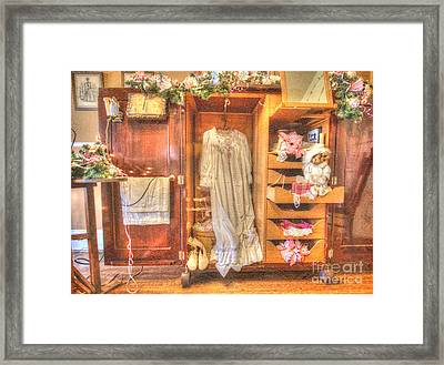 Antique Armoire Framed Print by Liane Wright