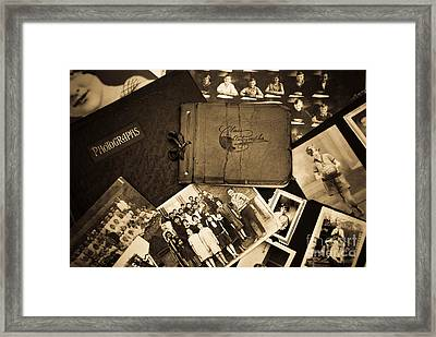 Antique Autograph And Photo Albums And Photos Framed Print