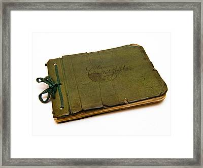 Antique Autograph Book Framed Print by Amy Cicconi