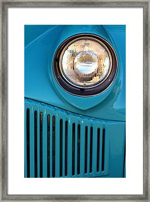 Antique Automobile Headlamp Framed Print by Carol Leigh