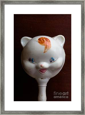 Antique Baby Rattle Framed Print by Edward Fielding