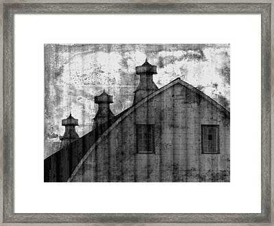 Antique Barn - Black And White Framed Print by Joseph Skompski