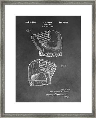 Antique Baseball Mitt Framed Print