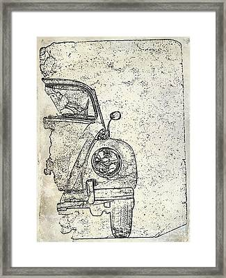 Antique Beetle Framed Print by Jon Neidert