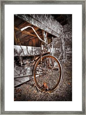Antique Bicycle Framed Print by Debra and Dave Vanderlaan