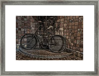 Antique Bicycle Framed Print by Susan Candelario