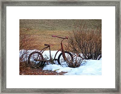 Antique Bike Framed Print