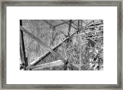 Antique Binder In Monochrome Framed Print by Jim Sauchyn