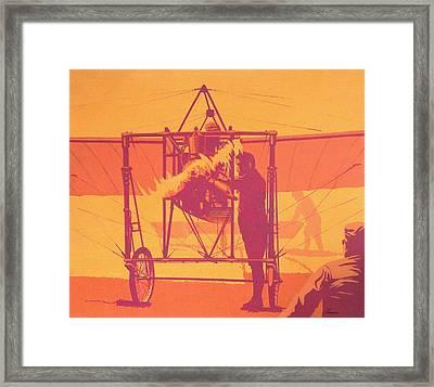 Antique Bleriot Airplane  Framed Print by John Samsen