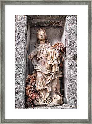 Antique Blessed Virgin Statue Framed Print by Olivier Le Queinec