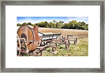 Antique Blizzard Silage Blower Framed Print
