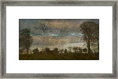 Antique Blue Landscape Framed Print