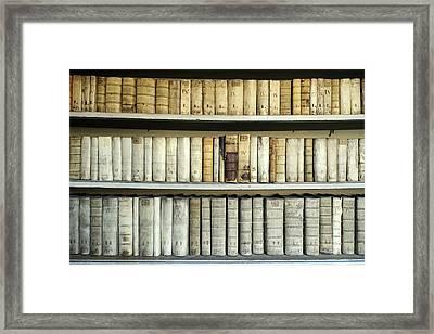 Antique Books Framed Print by Bildagentur-online/mcphoto-schulz