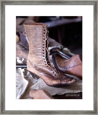 Antique Boot Framed Print