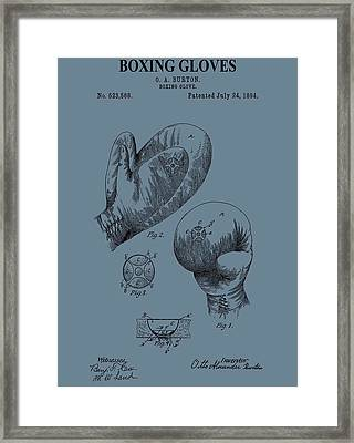 Antique Boxing Gloves Patent Framed Print by Dan Sproul
