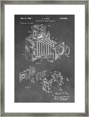 Antique Camera Patent Framed Print