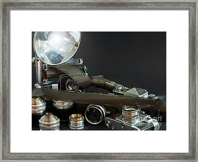Framed Print featuring the photograph Antique Cameras by Gunter Nezhoda