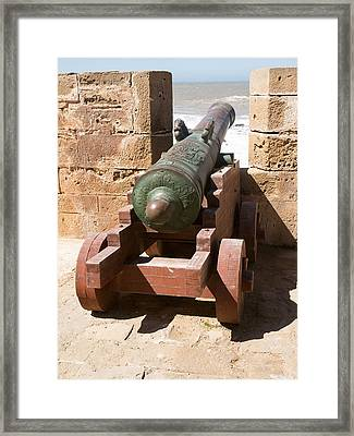 Antique Cannon In The North Bastion Framed Print by Panoramic Images