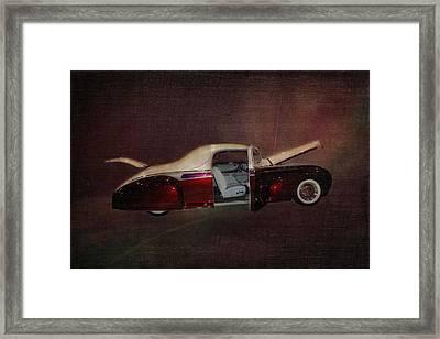 Antique Car 1941 Lincoln Zephyr Framed Print by Terry Fleckney