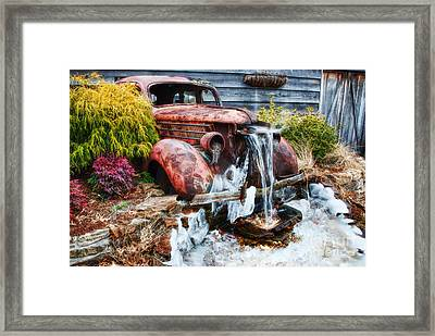Antique Car Water Fountain Columbus Georgia Framed Print