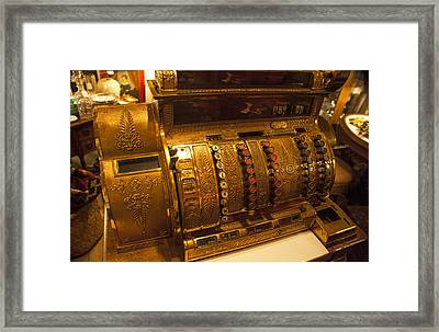 Framed Print featuring the photograph Antique Cash Register by Jerry Cowart