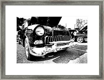 Antique Chevy Car At Car Show Framed Print