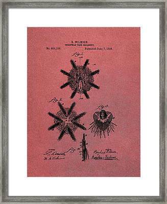 Antique Christmas Tree Ornaments Patent Framed Print by Dan Sproul