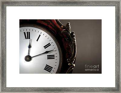 Antique Clock Face Framed Print by Olivier Le Queinec