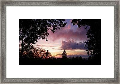Antique Clouds Framed Print